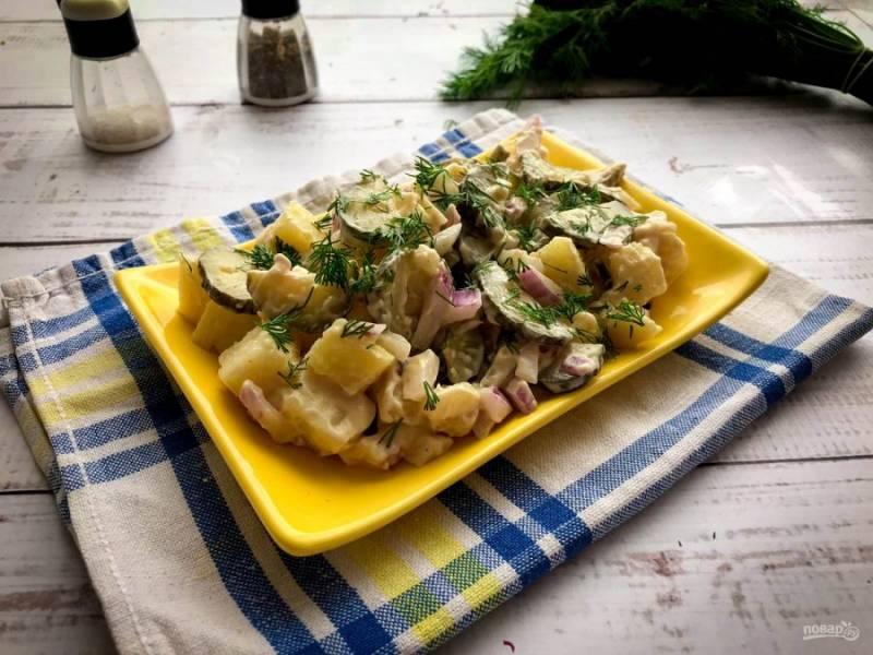 Финский картофельный салат готов. Приятного аппетита!