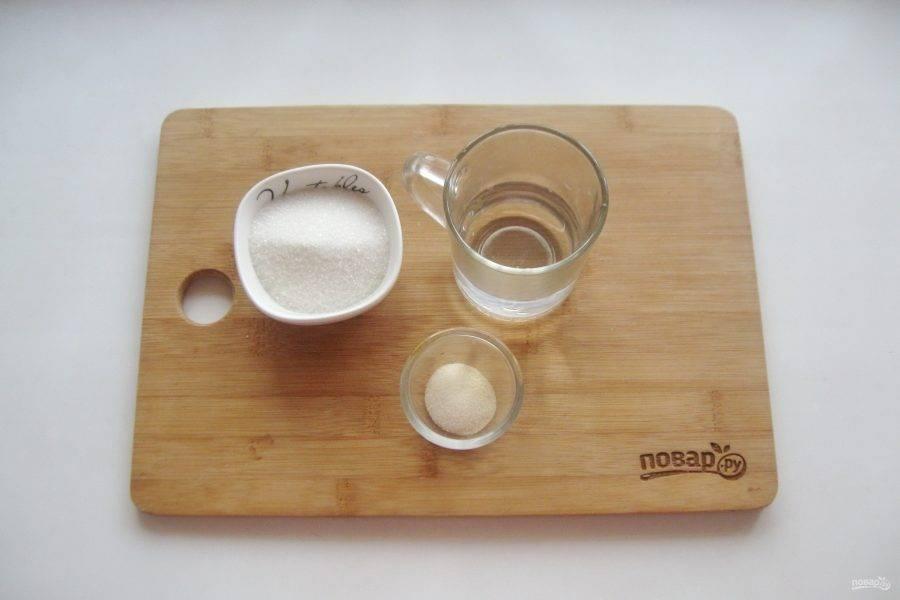 Подготовьте ингредиенты для приготовления глазури.