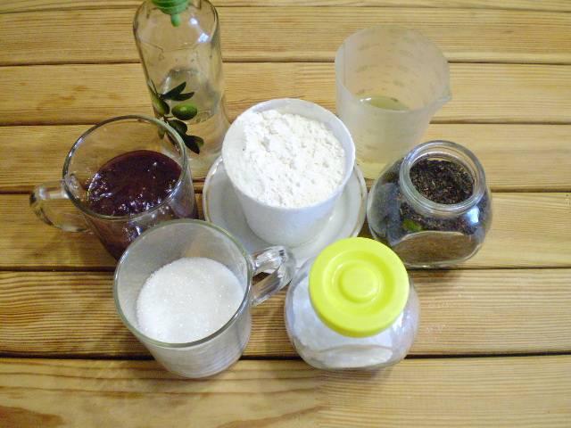 1. Приготовим продукты для постной коврижки.