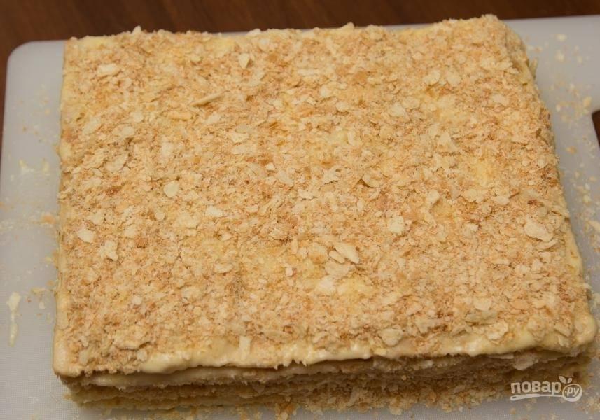 Слоеный торт из готовых коржей