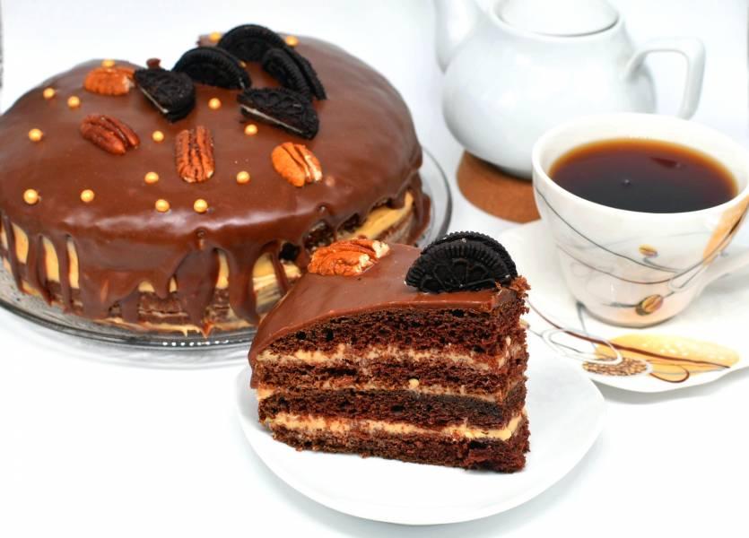 Торт шоколадно-арахисовый