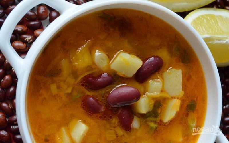 Рецепт супа с красной фасолью консервированной