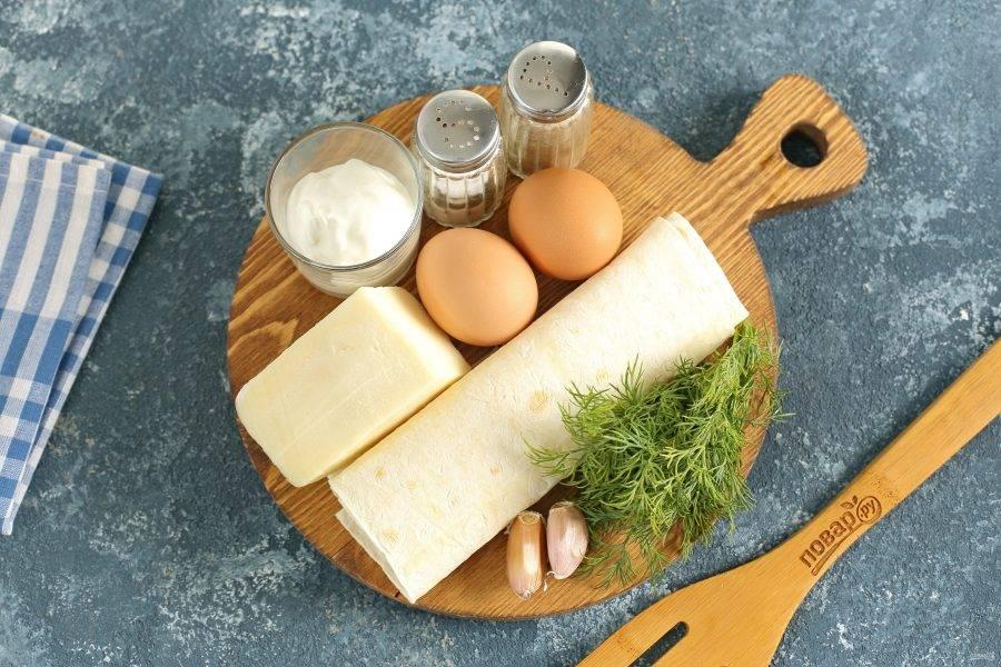 Вариант для второй начинки. Начинка из сыра сулугуни и вареных яиц.