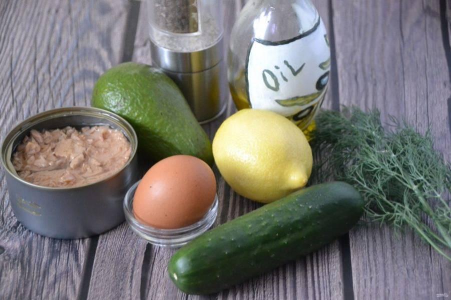 Приготовьте ингредиенты.