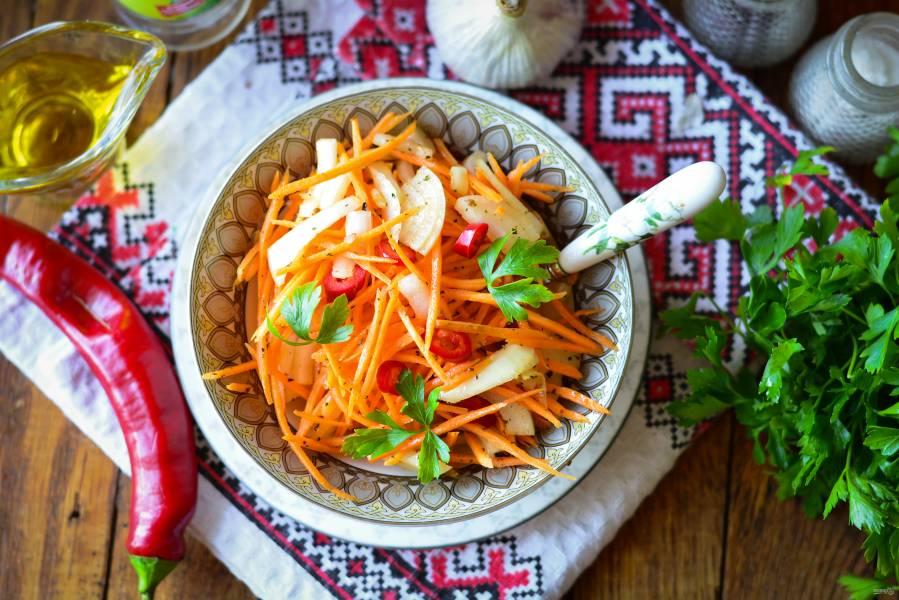 Закуска из лука и моркови