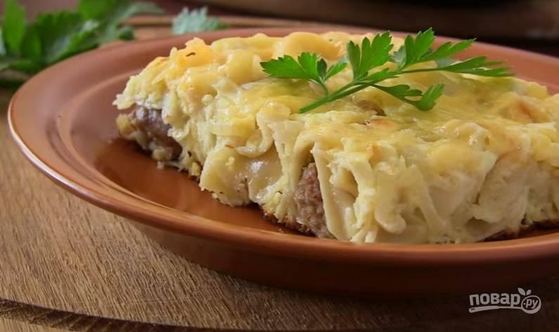 Пельмени в духовке с сыром