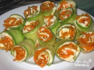 Кабачки с морковью