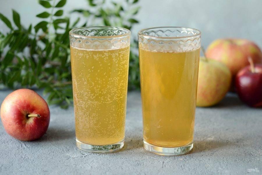 Безалкогольный яблочный сидр готов, приятного аппетита!