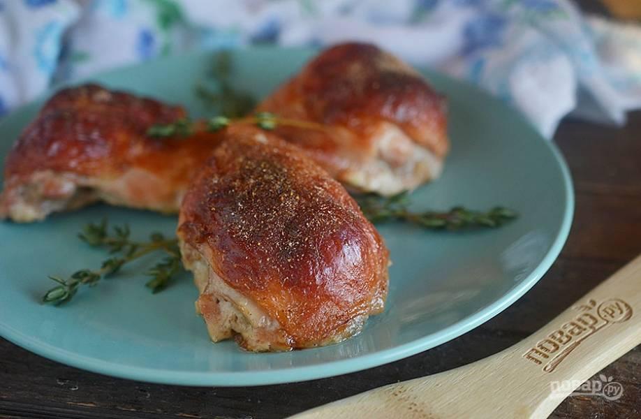 5. Запекайте в разогретой до 180 градусов духовке около 45 минут. Это очень вкусно и хрустяще. Приятного аппетита!