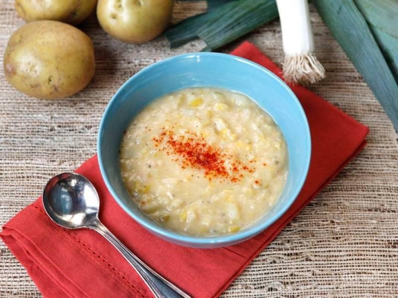 6. Суп можете подавать в таком виде или измельчить в блендере в пюре. Приятного аппетита!