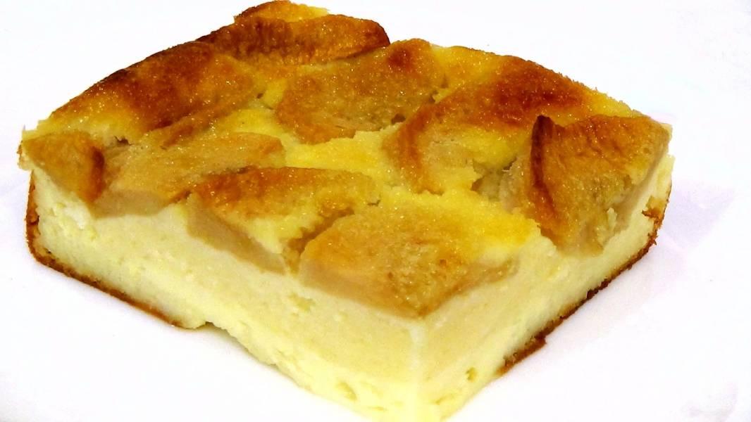 Сырник с яблоками