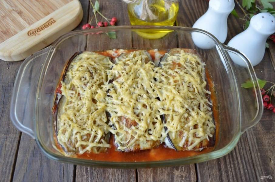 Лазанья из баклажанов с сыром готова!
