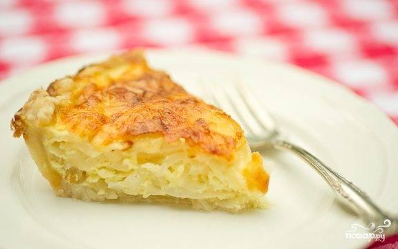 Быстрый пирог с луком