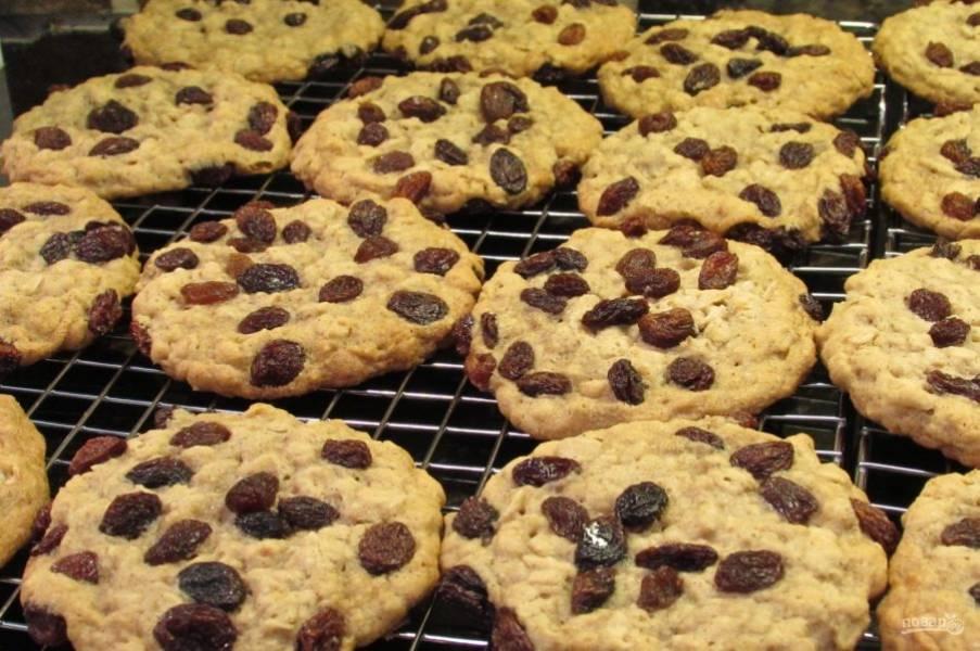 5.Переложите печенье на решетку для остывания, подавайте только остывшее печенье.
