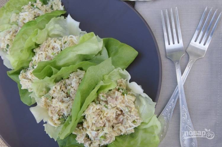 Салат с треской консервированной