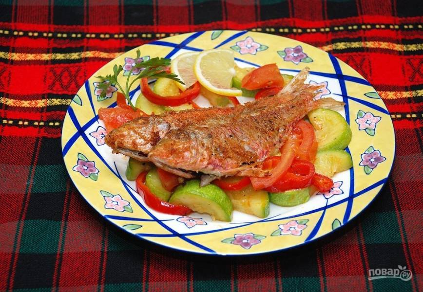 Рыба жаренная по-итальянски