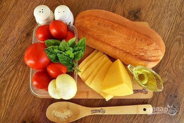 Подготовьте необходимые продукты. Овощи и зелень помойте, лук очистите.