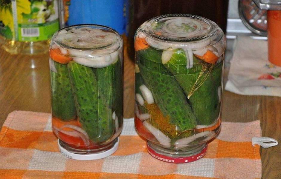 Готовую консервацию можно хранить в холодильнике или прохладном погребе. Приятного аппетита!