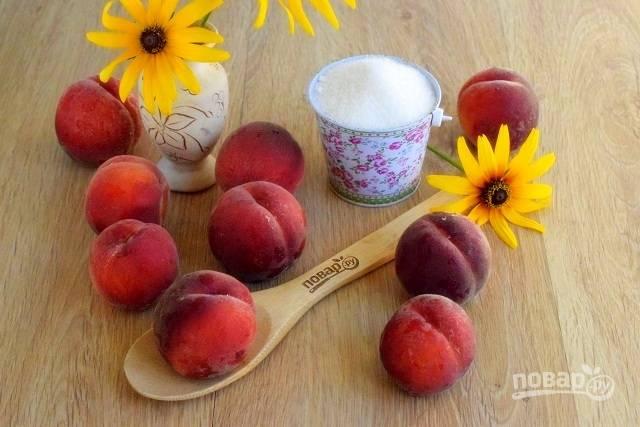 Персики помойте, обсушите.