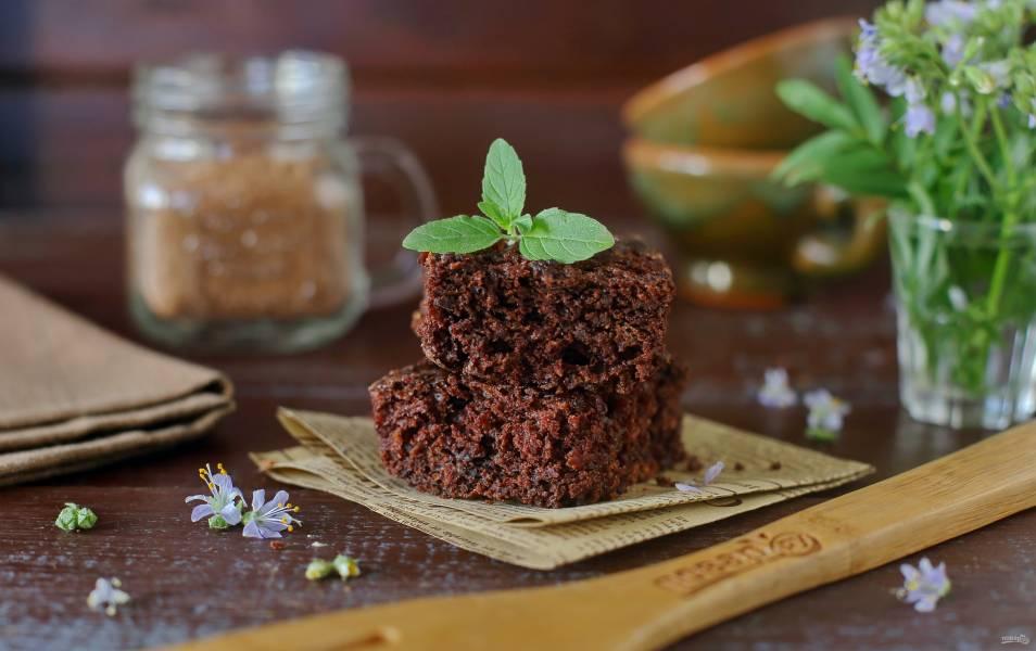 Шоколадно-морковный пирог