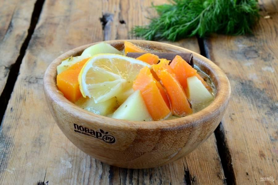Вот и все, марвари готово! Подавайте с долькой лимона и свежей зеленью. Приятного аппетита!