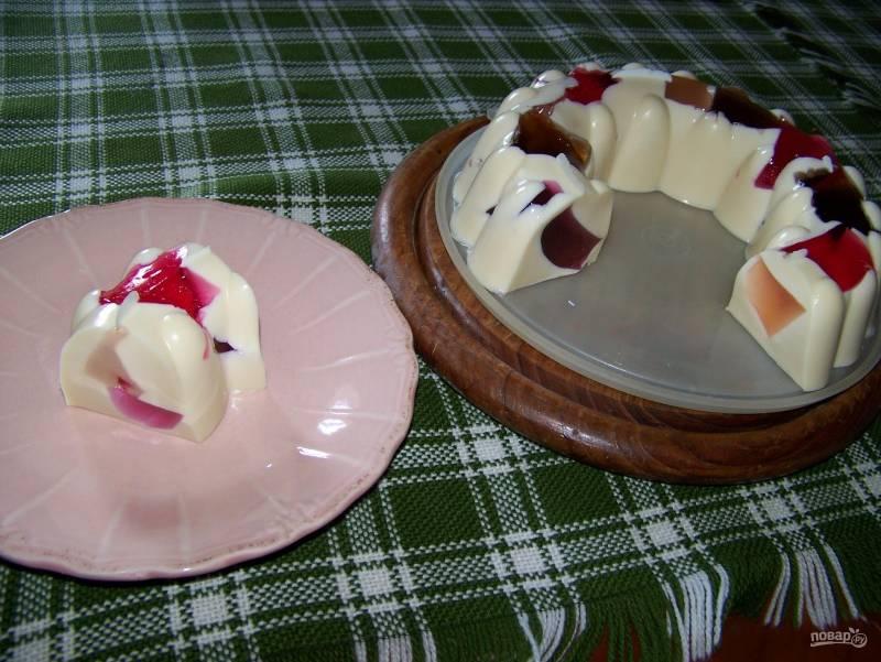 """Торт из желе """"Разноцветный"""""""