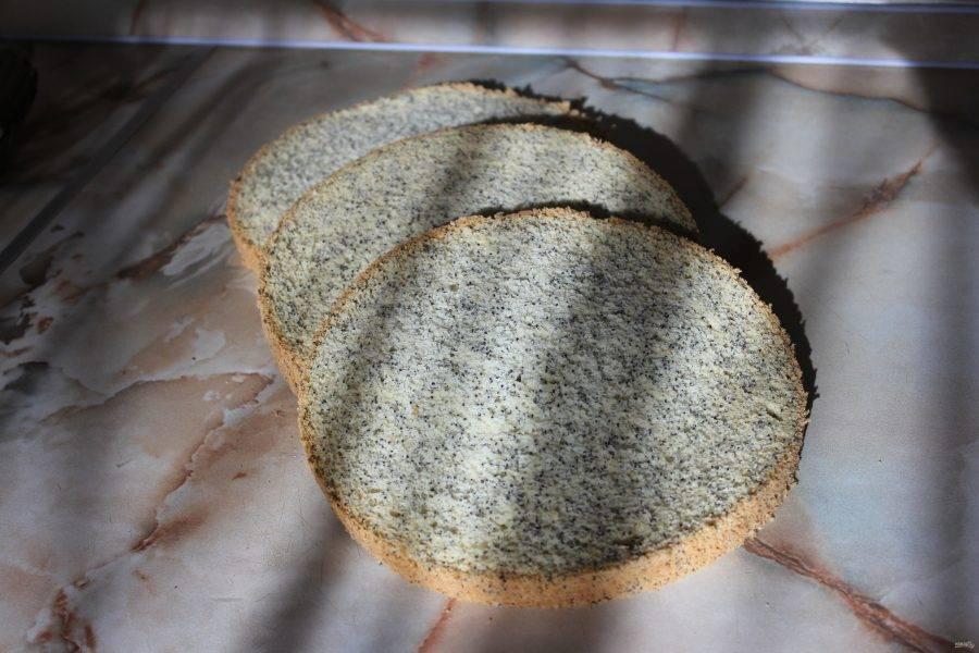 Бисквит готов. Его можно разрезать на необходимое количество коржей и прослоить кремом. Получится вкуснейший торт. Или подать как самостоятельную выпечку. Приятного чаепития!