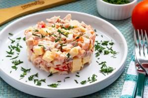 Салат с копченой курицей и помидорами - фото шаг 6