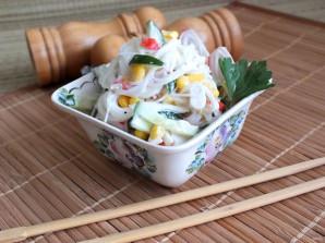 Салат с фунчозой и крабовыми палочками - фото шаг 6