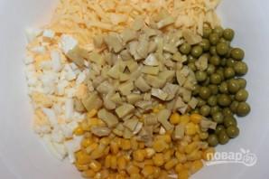 Салат с сыром и грибами - фото шаг 3