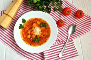Суп с фасолью и тыквой - фото шаг 7