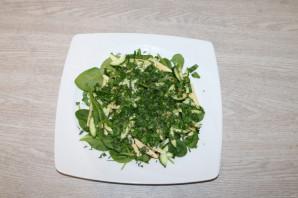 Диетический зелёный салат - фото шаг 9