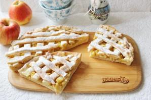 Яблочный пирог с решеткой - фото шаг 14