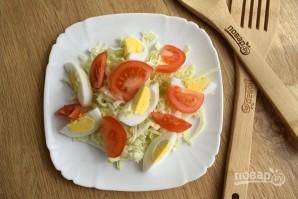 Салат с гренками и сыром - фото шаг 6