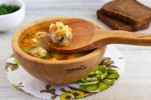 Куриный суп с сырными фрикадельками - фото шаг 10