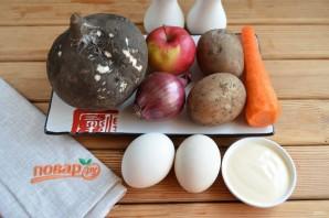 Слоеный салат из редьки - фото шаг 1