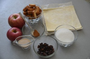 Ленивый яблочный штрудель - фото шаг 1