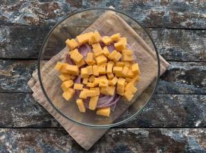 Салат из стручковой фасоли с мясом - фото шаг 5