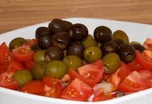 """Греческий салат"" с брынзой - фото шаг 5"