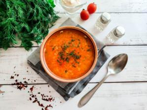 Томатный суп с курицей и рисом - фото шаг 7