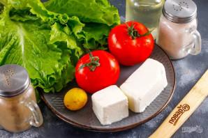 Салат с помидорами и сыром - фото шаг 1