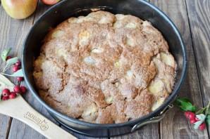 Шоколадная шарлотка с яблоками - фото шаг 9