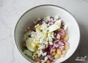 Салат из индейки с фасолью - фото шаг 3