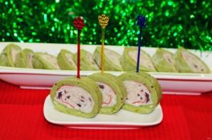 Острая шуба из авокадо с начинкой из крабовых палочек - фото шаг 11