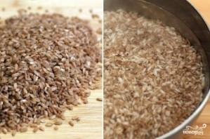 Плов из бурого риса со свининой - фото шаг 1