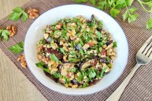 Салат с баклажанами и грецкими орехами - фото шаг 8