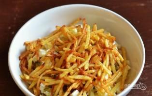 Салат с курицей и картошкой - фото шаг 5