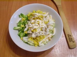 Салат из пекинской капусты с кукурузой - фото шаг 4