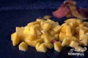Маффины с персиками и сливочной глазурью - фото шаг 1