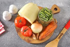 Тушеные кабачки со стручковой фасолью - фото шаг 1
